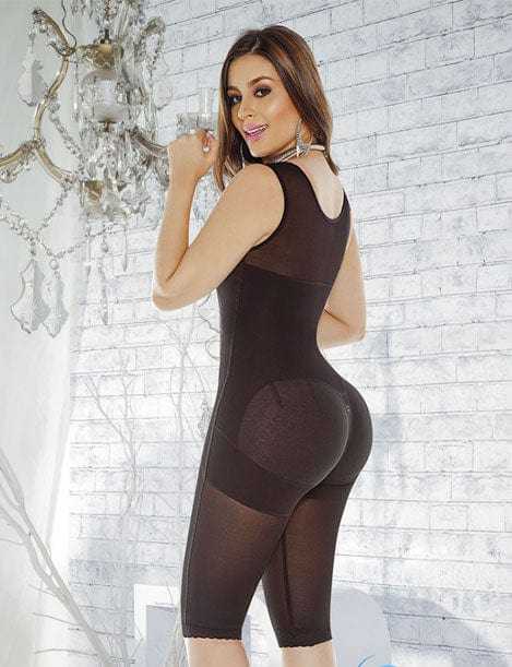 butt lifter full body shaper to the knee back black