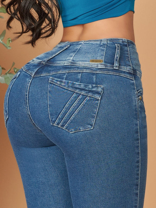 back view butt lift skinny jeans up close  colombian