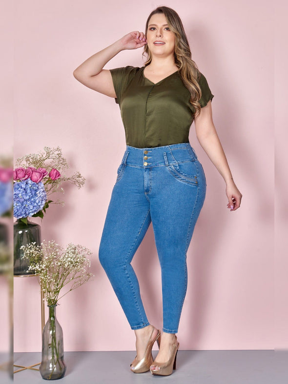 'Roxy' Butt Lift Levanta Cola Jeans 12804