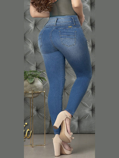 'All Smiles' Butt Lift Levanta Cola Jeans 12855