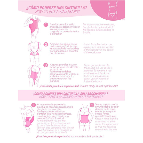 intructions how to put on colombian shapewear fajas myd