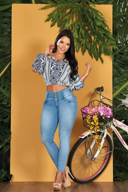 'Khloe' Push up Jeans Levanta Cola 10551