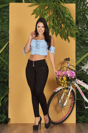 """Queen"" Push up Jeans Levanta Cola 10558"