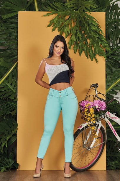 """Minty"" Push up Jeans Levanta Cola 10561"