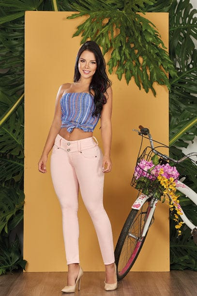 """Peachy"" Push up Jeans Levanta Cola 10562"