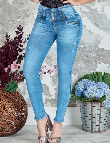 """Acid"" Push Up Levantacola Jeans 10854"