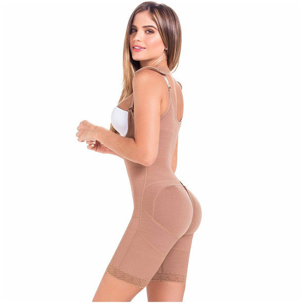 Postsurgical Four hook Girdle w/ Mid Thigh MariaE 9182