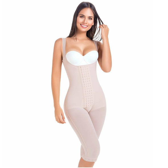 Post Surgical Body Shaper w/ Four Hooks & Vest Straps MariaE 9382