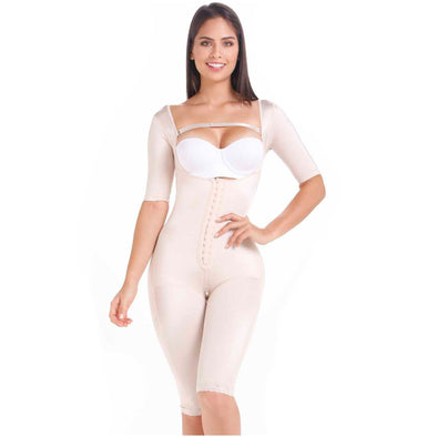 Full Body Post-Op Shaper to the knees w/ Sleeves MariaE Fajas FQ104