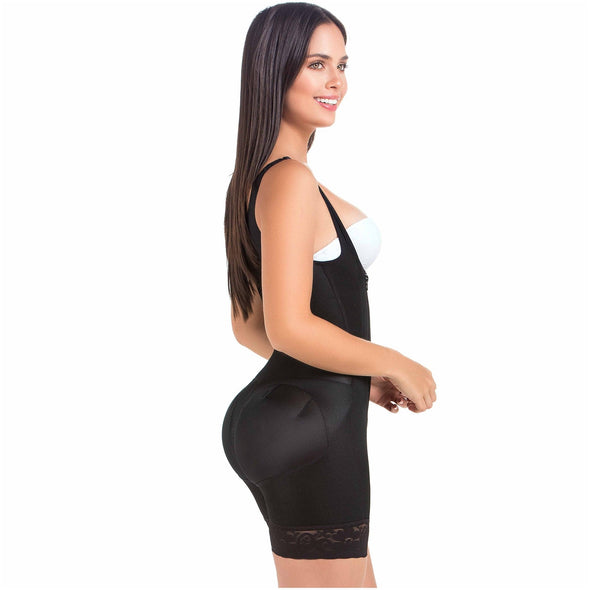 Daily Use Hourglass Shaper w/ Zipper and Mid Shorts Fajas MariaE FU111
