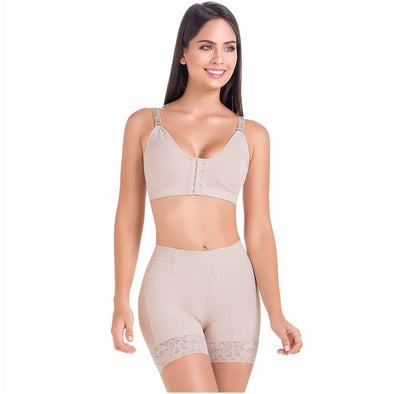 High Waisted Tummy Control Butt Lift Shorts Fajas MariaE FU101