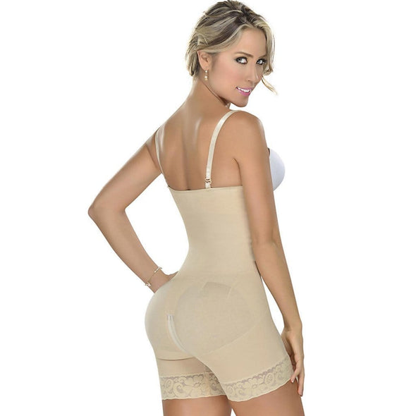 Strapless & Backless Body Shaper with Zipper by Fajas MyD 0066