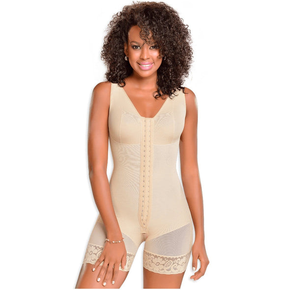 High Compression Body Shaper with Center Hooks and Bra by Fajas MyD 0029