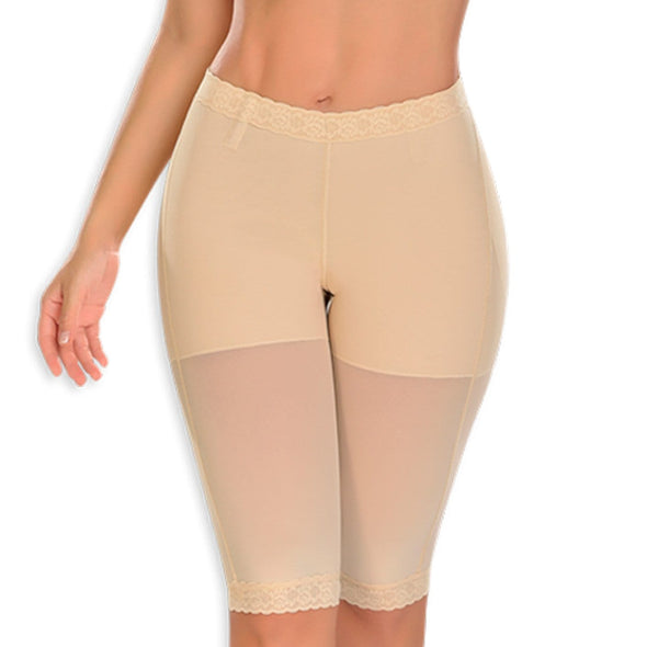 butt lifter compression short to the knee beige