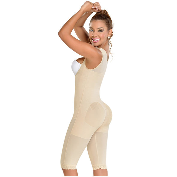 High Compression to the Knee Body Shaper Fajas MyD 0075 w/ Plus Sizes
