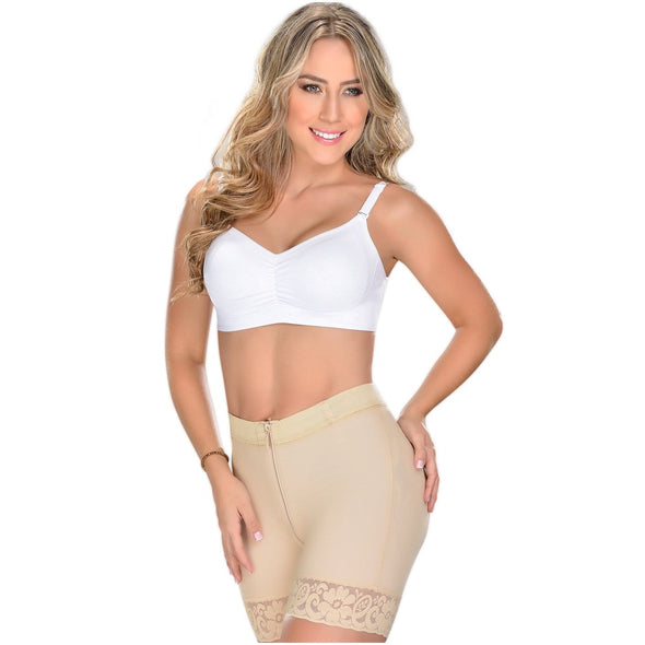 High Waist Butt Lift Short with Zipper by Fajas MyD 3722