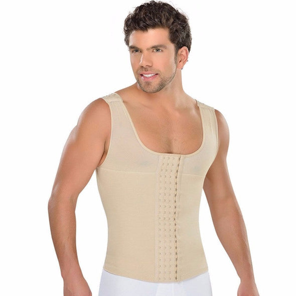Liposuction High Compression Vest for Men by Fajas MyD 0062