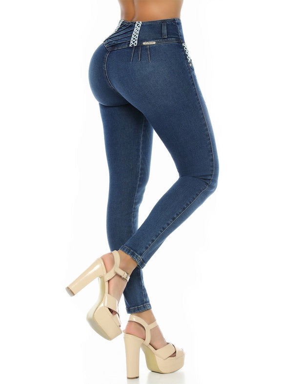 'Corset' Butt Lift Levanta Cola Jean Skirt ZG6029