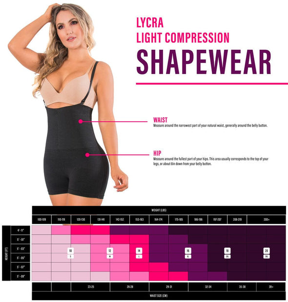 bodysuits compression shapewear size chart
