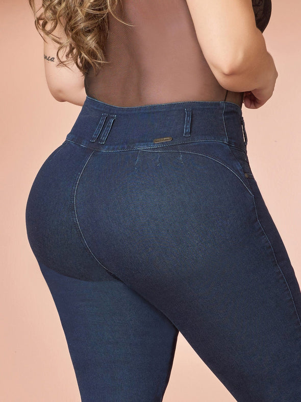 back view colombian butt lift jeans up close