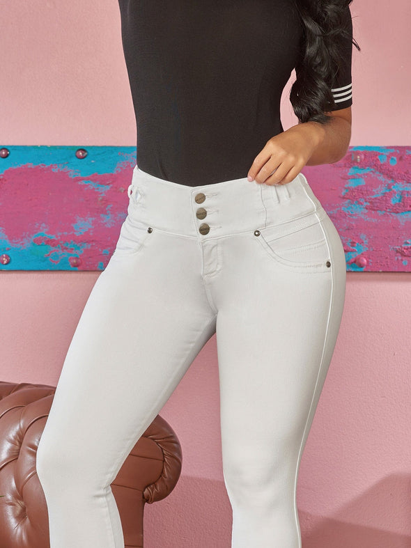 white skinny jeans three button colombian