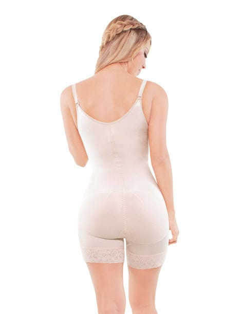 adjustable straps shapewear compression butt lifter beige