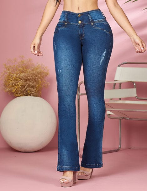 'Mary Ann' Butt Lift Levanta Cola Jeans 11882