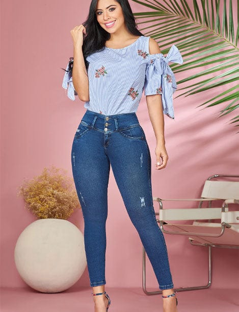 'Mariposa' Butt Lift Levanta Cola Jeans 11884