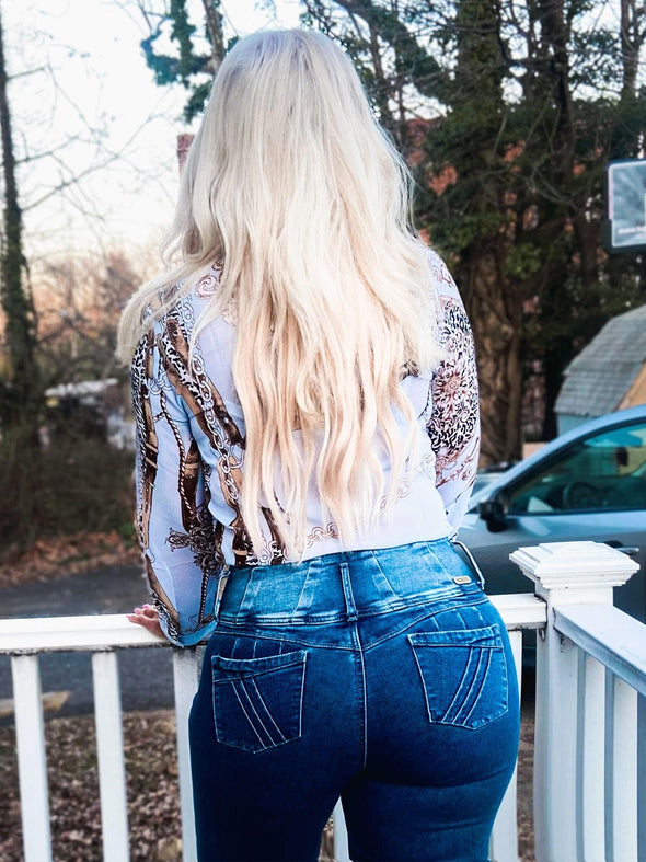 'Flirt' Butt Lift Levanta Cola Jeans 12594