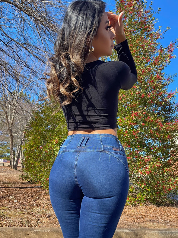 'Girlfriend' Butt Lift Levanta Cola Jeans 12597