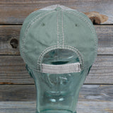 """Fish"" Garment Washed 100% Cotton Cap With Zig Zag Stitching - Hook & Loop Closure"