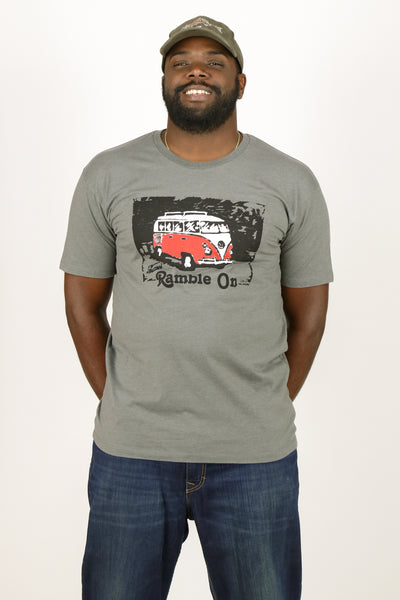 """Ramble On"" Men's Short Sleeve Tee (Front Print)"