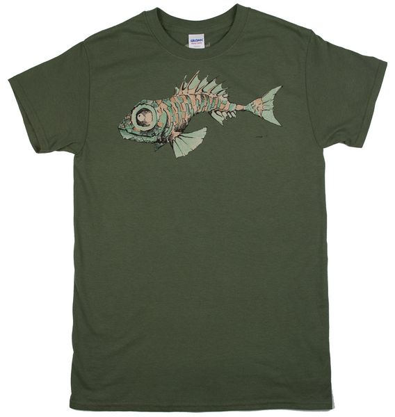 """Fish"" Men's 100% Cotton Short Sleeve Tee"