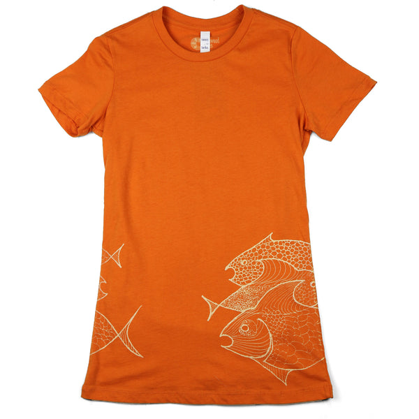 """Three Fish"" Women's 100% Ringspun Cotton Short Sleeve Tee"