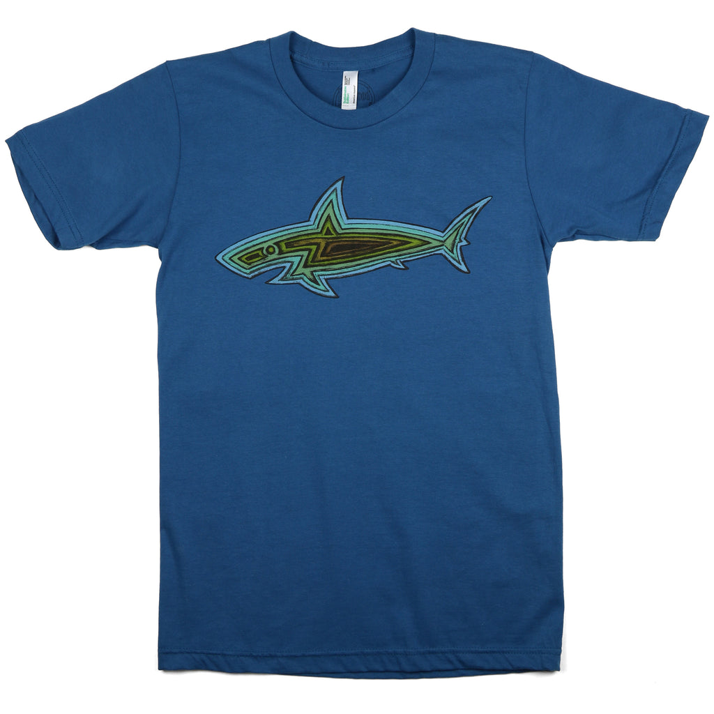 """Woodie Shark"" Men's / Unisex Organic Cotton Short Sleeve Tee"