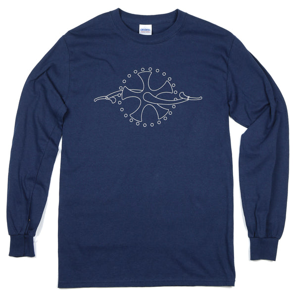 """Chainring"" Men's 100% Cotton Long Sleeve Tee"