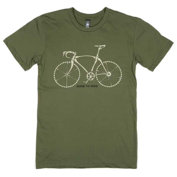 """Bone To Ride"" Men's 100% Ringspun Cotton Short Sleeve Tee"