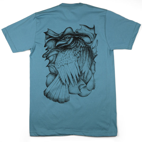 """Grand Raven"" Men's/Unisex 100% ORGANIC Cotton - Made in USA"