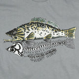 """Skeleton Fish"" Men's / Unisex Organic Cotton Short Sleeve Tee"