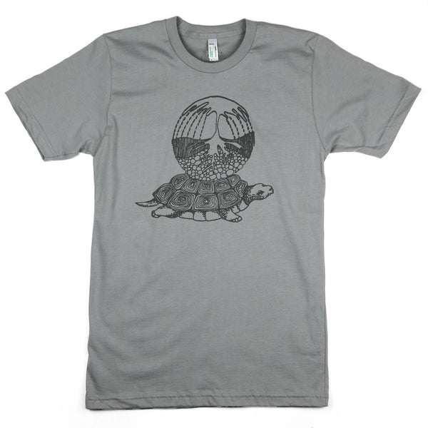 """Earth Turtle"" Men's / Unisex Organic Cotton Short Sleeve Tee"