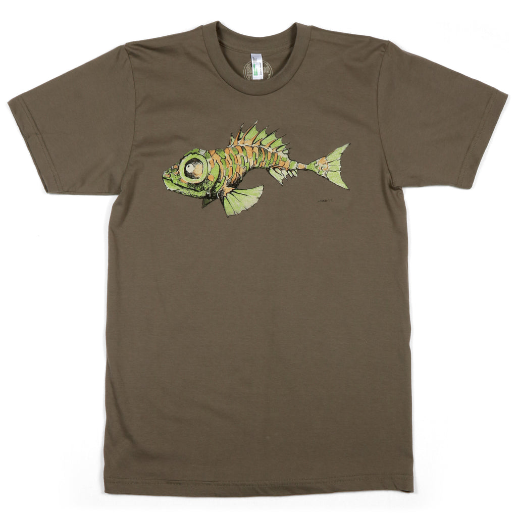 """Fish"" Men's 100% Organic Cotton Short Sleeve Tee"