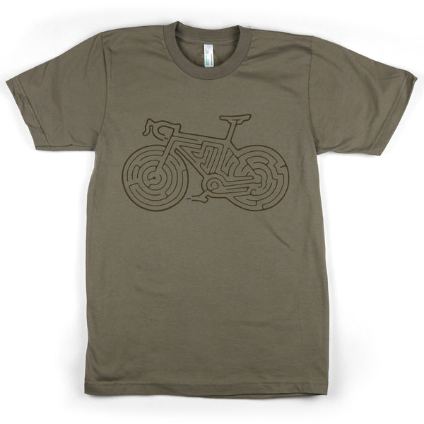 """Bike Maze"" Men's 100% Organic Cotton Short Sleeve Tee"