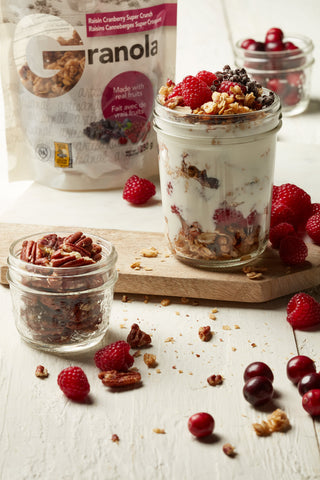 Granola Yogurt Parfait in a Mason Jar