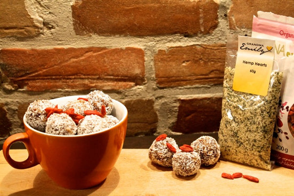 Hemp Seed, Coconut and Date Balls Ingredients