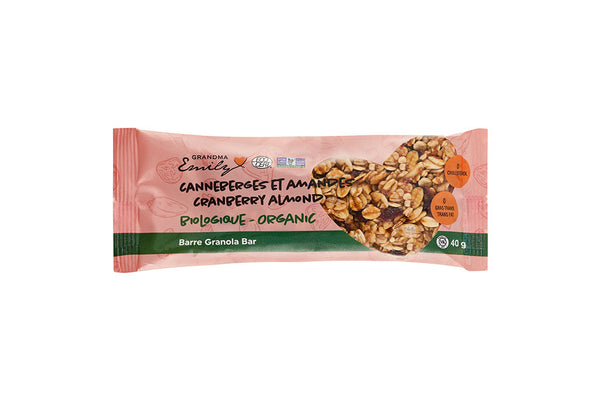 Organic Cranberry Almond Bar (40g)