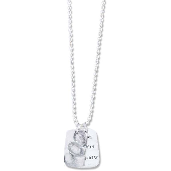 Dog Tag Fingerprint Pendant