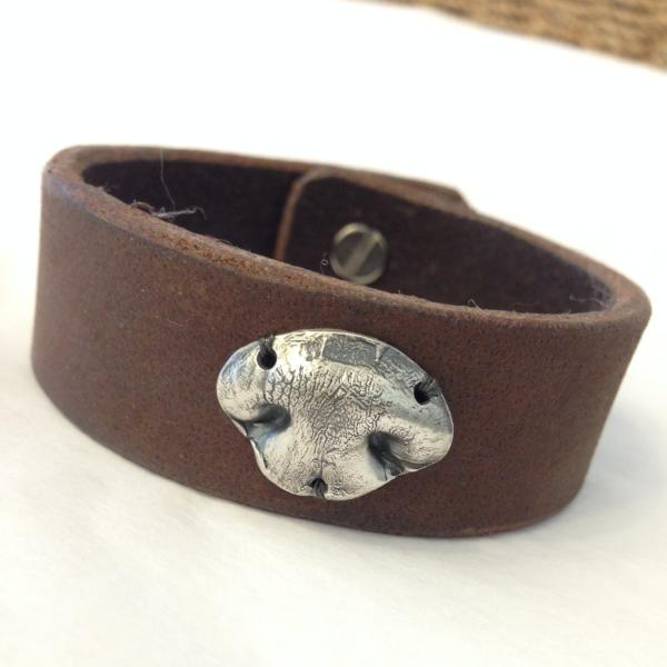 Dog or Cat Nose Leather Cuff Bracelet