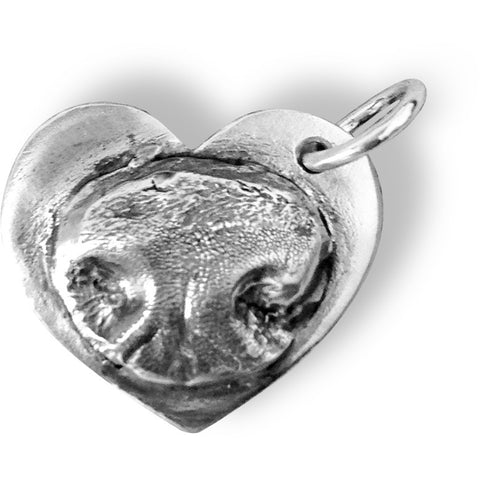 Outie M - XLarge Heart - Dog or Cat Nose Pendant