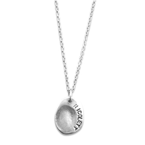sway silver single fingerprint pendant