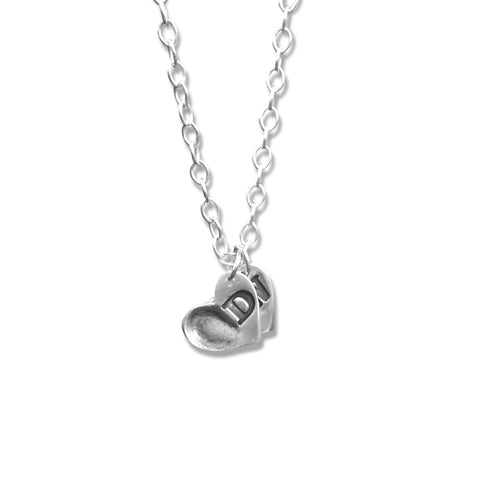 Medium Initial Heart Fingerprint Pendant
